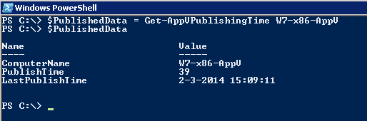 Powershell-PublishedData