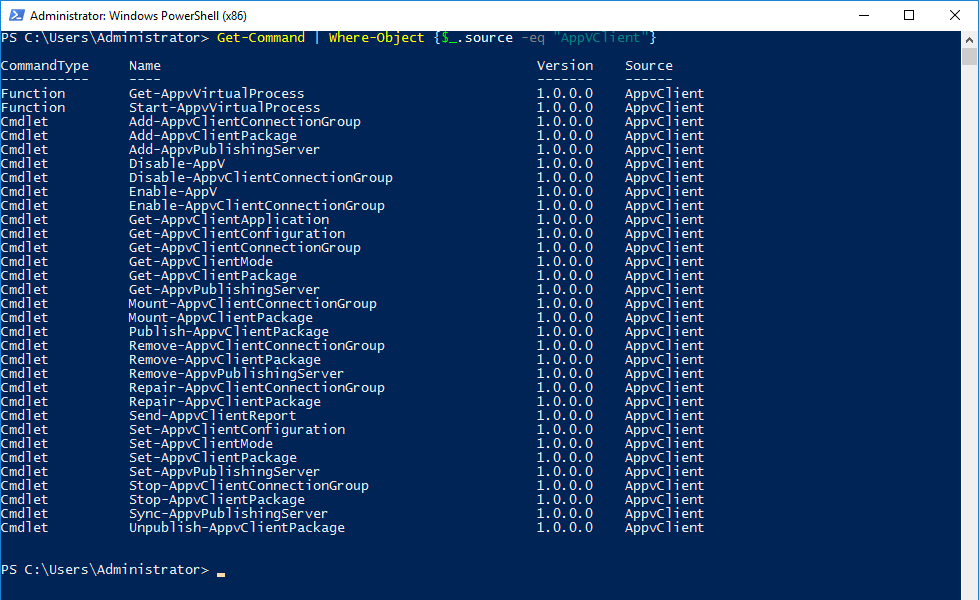 appv-powershell-commands