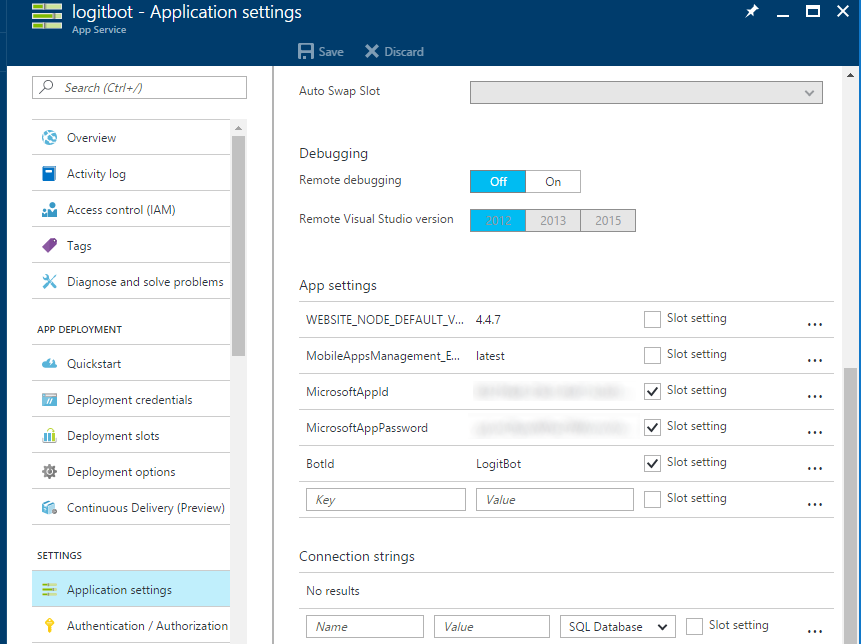 logit-bot-azure-settings